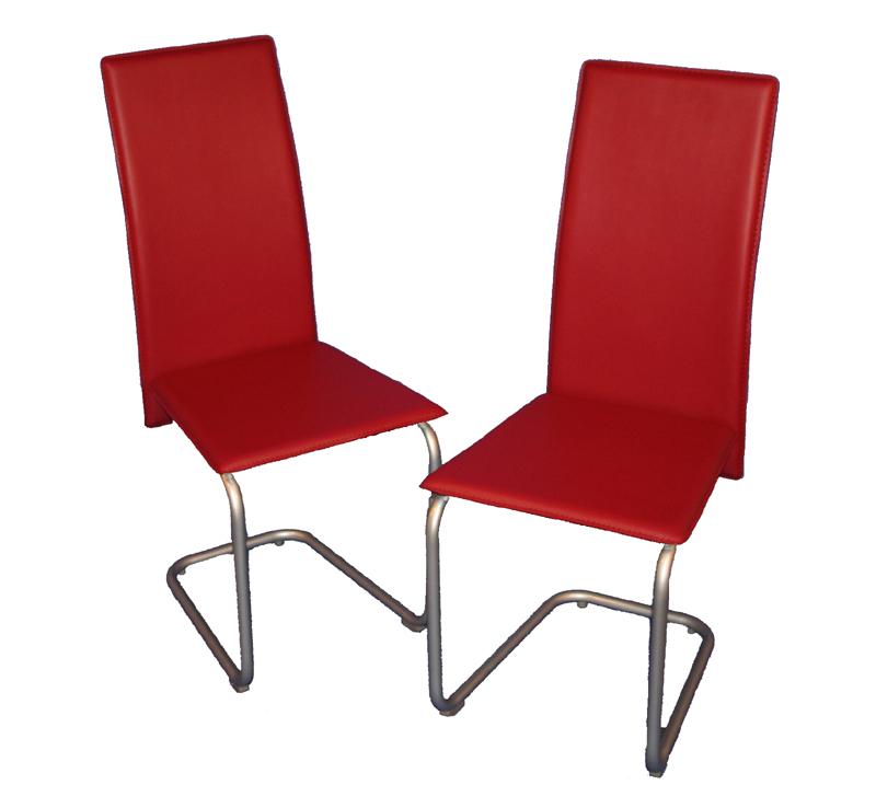 2 exclusive design st hle rot stuhl ku leder neu ebay for Stuhl design rot
