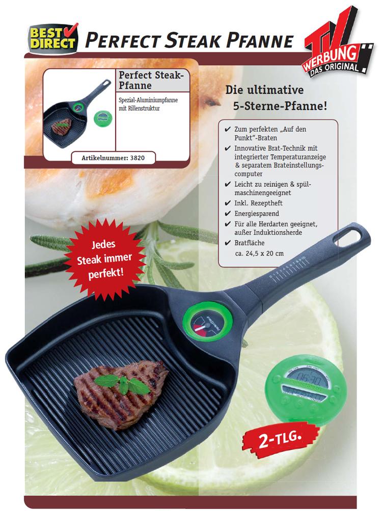 alu steak pfanne grillpfanne steakpfanne grill tv neu ebay. Black Bedroom Furniture Sets. Home Design Ideas