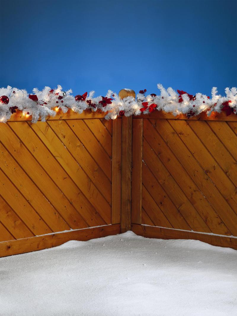 Xxl weihnachtsgirlande 6m girlande au en innen neu ebay - Weihnachtsdekoration aussen xxl ...