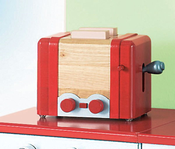 neu roba 25cm kinder holz toaster mit funktion f r kinderk che spielzeugtoaster ebay. Black Bedroom Furniture Sets. Home Design Ideas