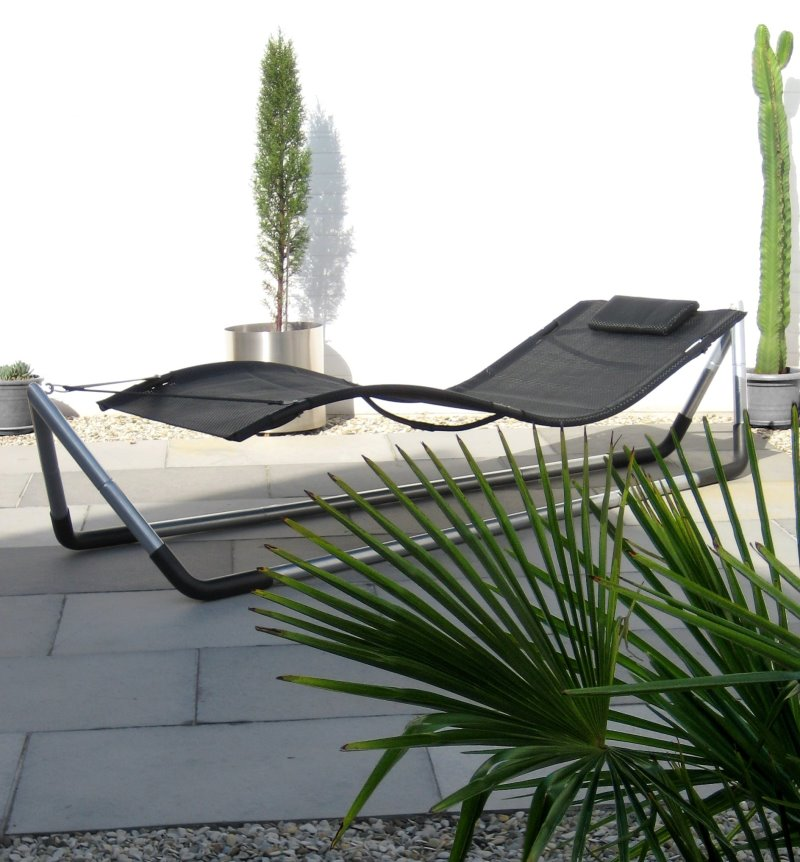 design luxus h ngematte gestell von leco garten liege sonnenliege gartenliege ebay. Black Bedroom Furniture Sets. Home Design Ideas