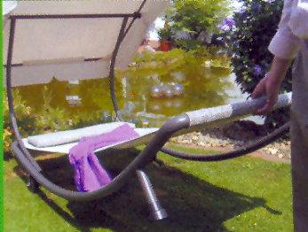 Gartenliege dach  Leco Design Luxus Doppelliege + Dach Garten Liege Sonnenliege ...