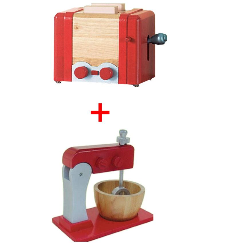 roba holz spielk che k che waschmaschine k hlschrank toaster mixer holzspielzeug ebay. Black Bedroom Furniture Sets. Home Design Ideas