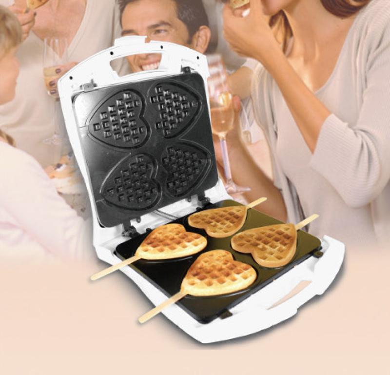 orig lentz waffle king 4 waffeleisen waffel am stiel waffelger t waffel maker ebay. Black Bedroom Furniture Sets. Home Design Ideas